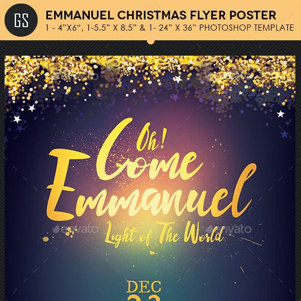 Emmanuel Christmas Cantata Flyer Poster Template