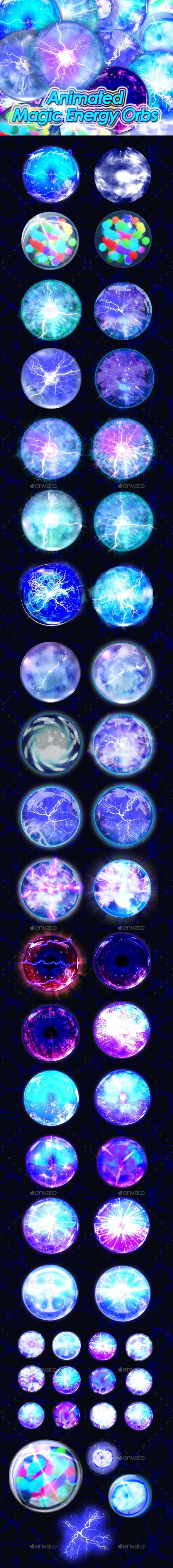 Magic Energy Orb - Sprites Game Assets