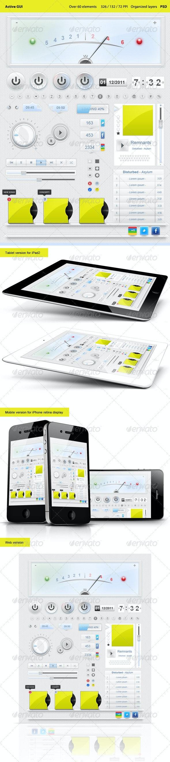 Active GUI / iPad / iPhone / web  - User Interfaces Web Elements