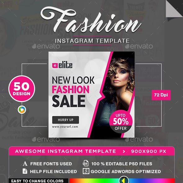 Fashion Instagram Templates - 50 Designs