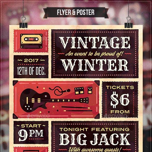 Vintage Winter - Flyer & Poster