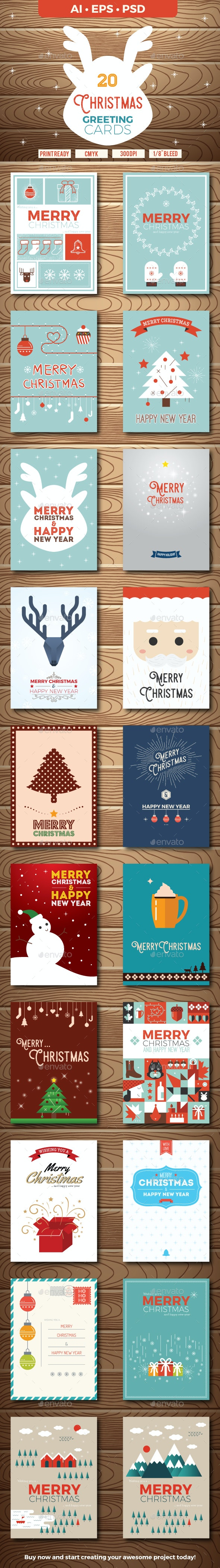 20 Christmas Greeting Cards - Greeting Cards Cards & Invites
