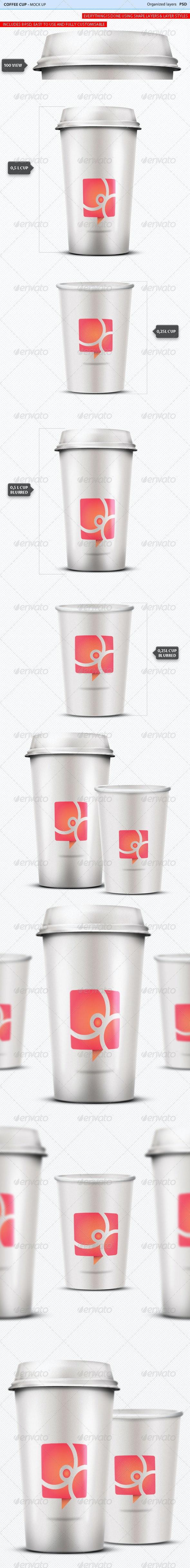 Coffee Cup Mock Ups #1 - Food and Drink Packaging