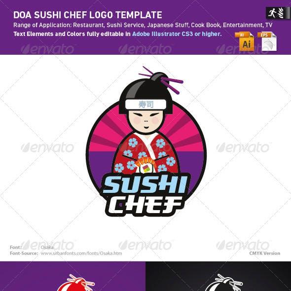 DOA Sushi Chef Logo Template
