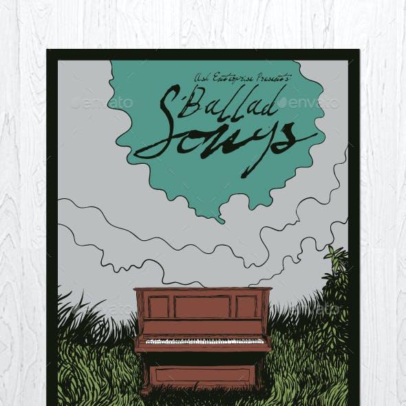 Ballad Songs Flyer