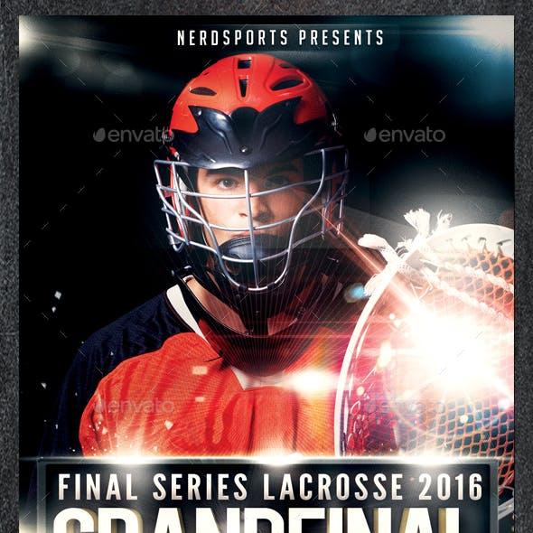 Final Series Lacrosse 2016 Grand Final Sports Flyer