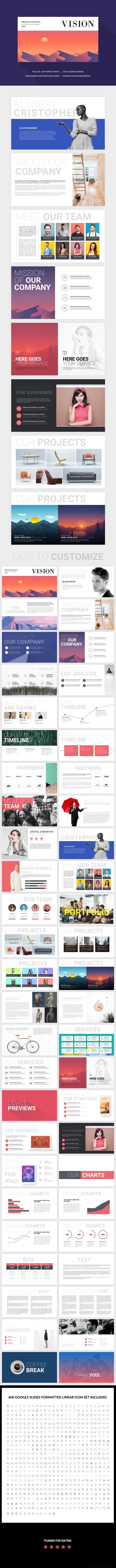 Vision Google Slides Template - Google Slides Presentation Templates