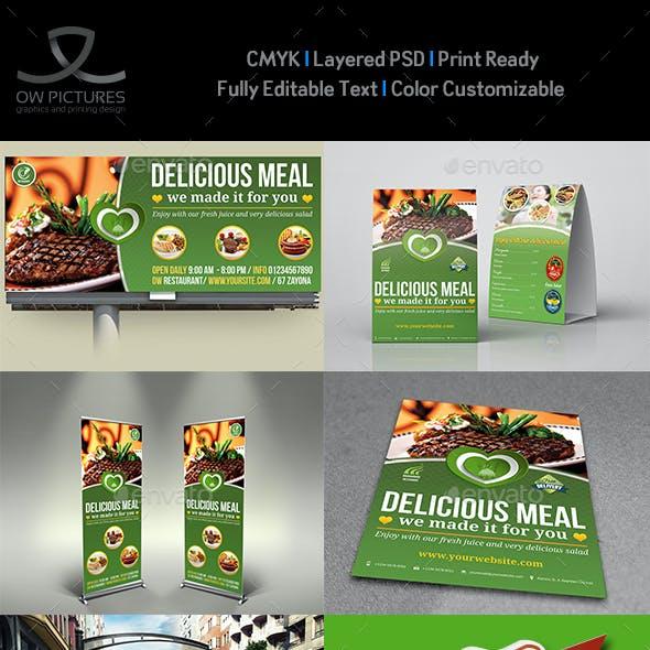 Restaurant Advertising Bundle Vol13