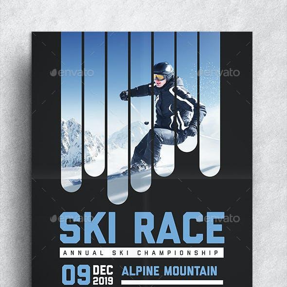 Ski Race Flyer
