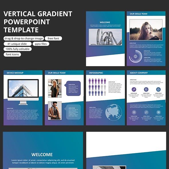 Vertical Gradient - PowerPoint Template