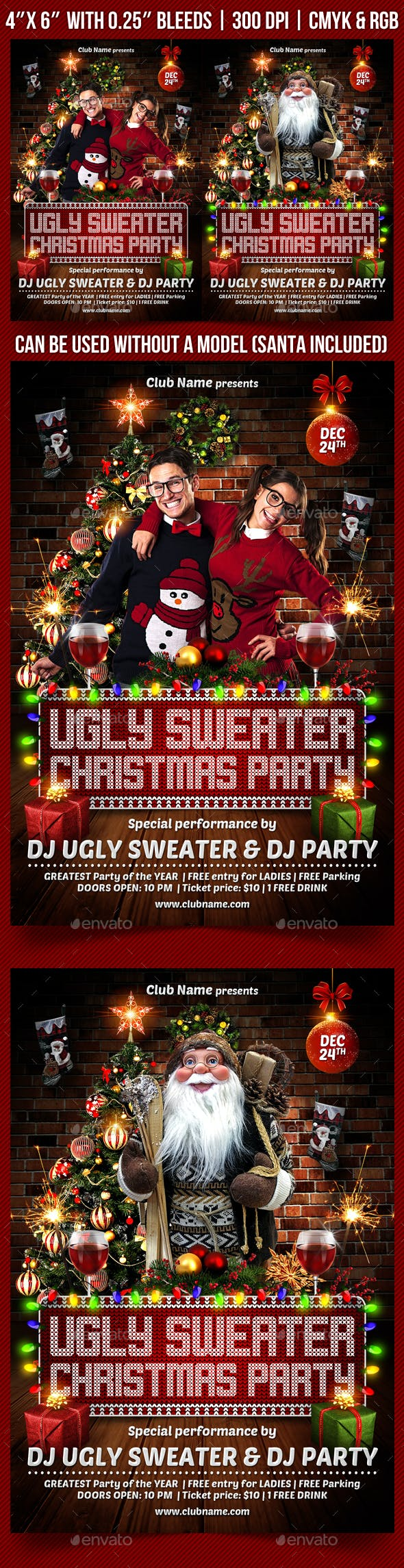 315ed5cf2 Ugly Christmas Sweater Party Flyer - Holidays Events