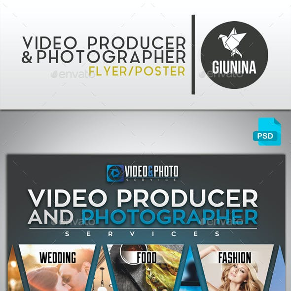 Video Producer and Photographer Flyer/Poster