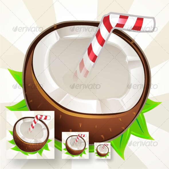 Coconut icon - Food Objects