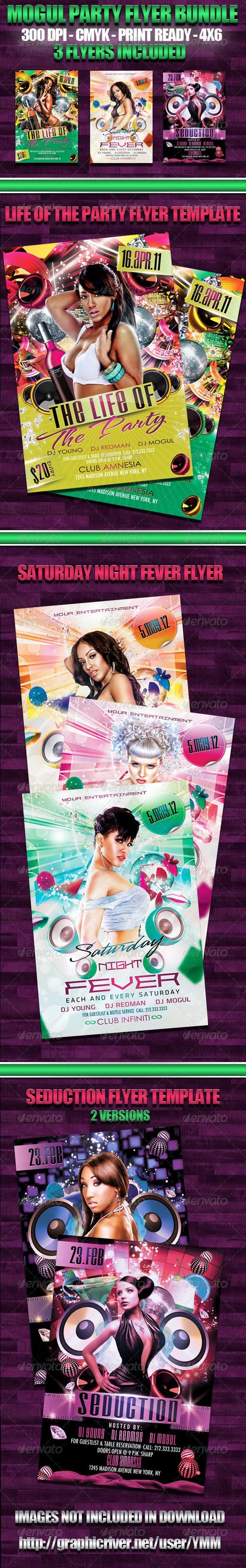 Mogul Party Flyer Bundle - Flyers Print Templates