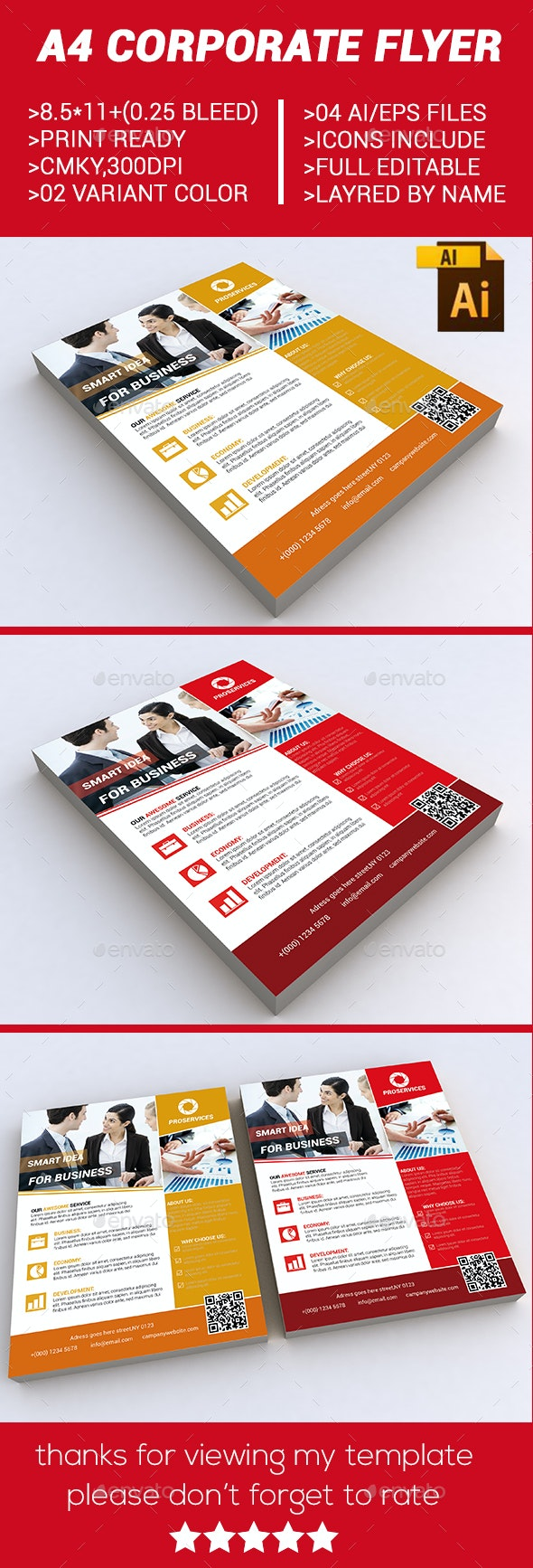 A4 corporate flyer - Corporate Flyers