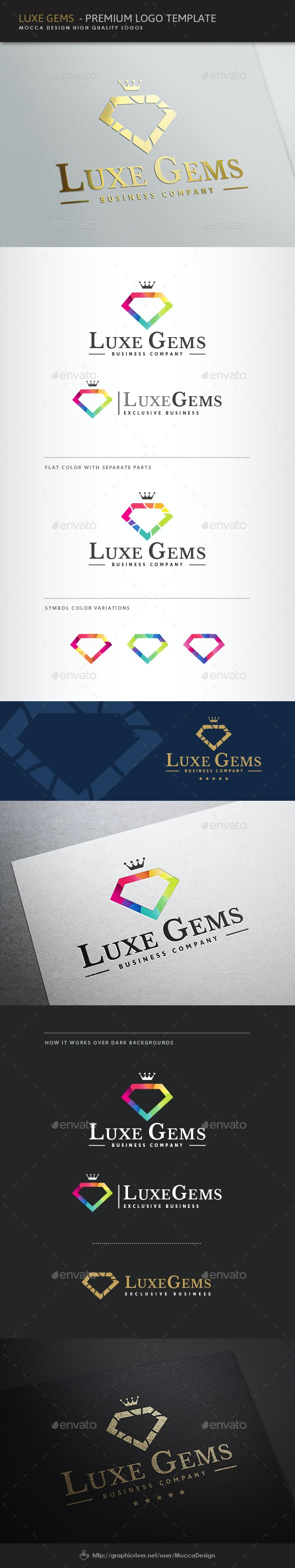 Luxe Gems Logo - Objects Logo Templates