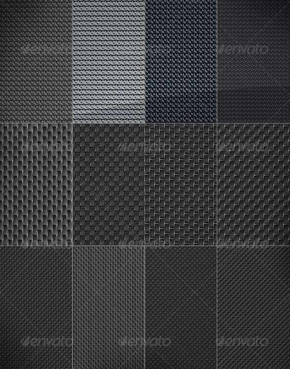12 Web Background - carbon pattern texture - Tech / Futuristic Backgrounds