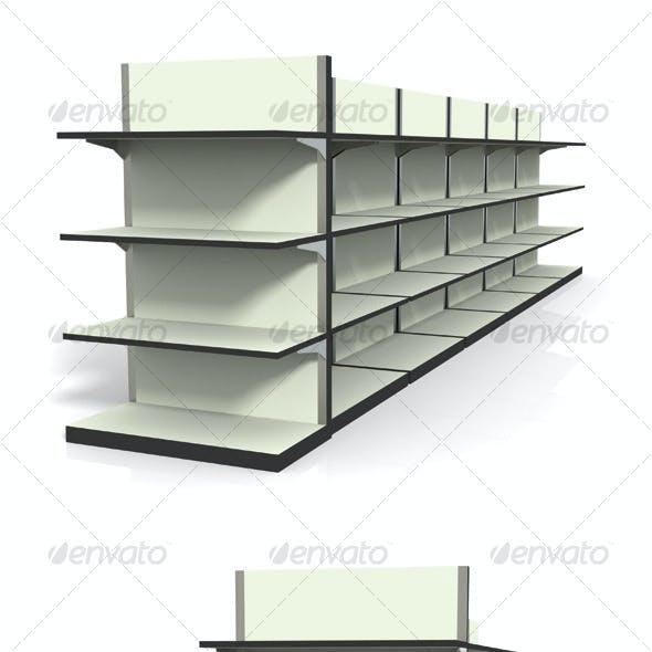 3D Shelf Set - Render 4 Pack