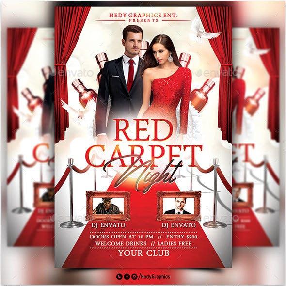 Red Carpet Night - Flyer