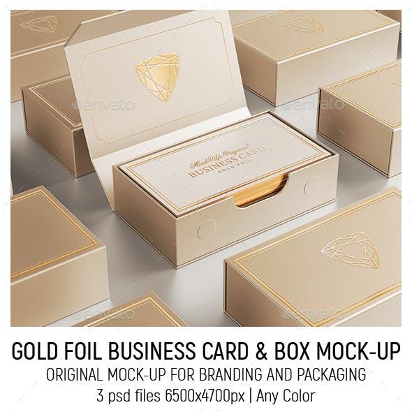 Gold Foil Business Card Mock-Up