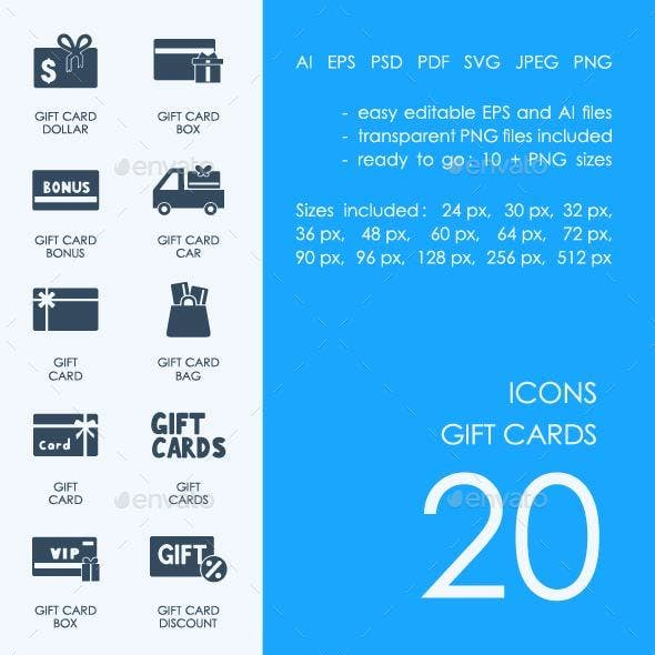 Gift Cards icons