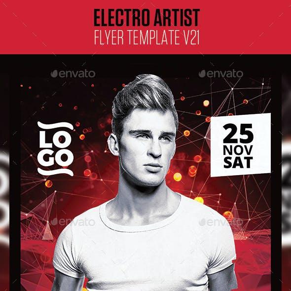 Electro House Artist Flyer v21