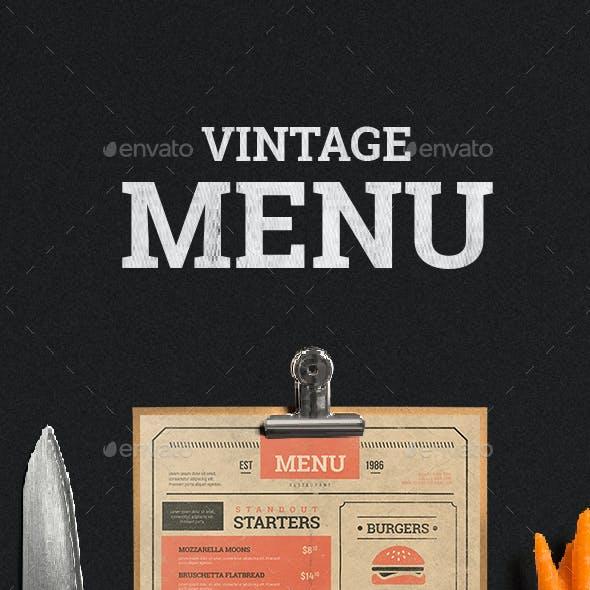 Vintage Menu Vol. 2