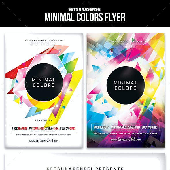 Minimal Colors Flyer