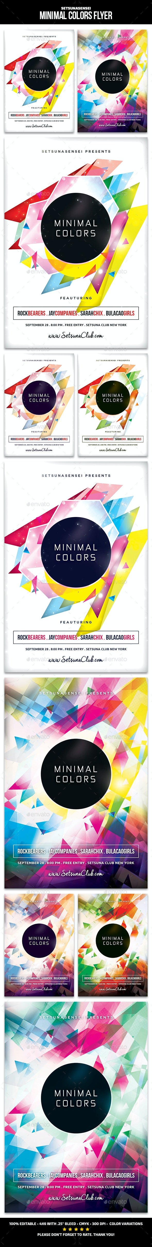 Minimal Colors Flyer - Clubs & Parties Events