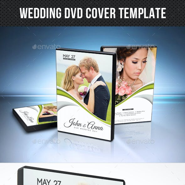 Wedding DVD Cover Template 19