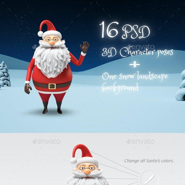 Santa - Christmas 3D Character Stills