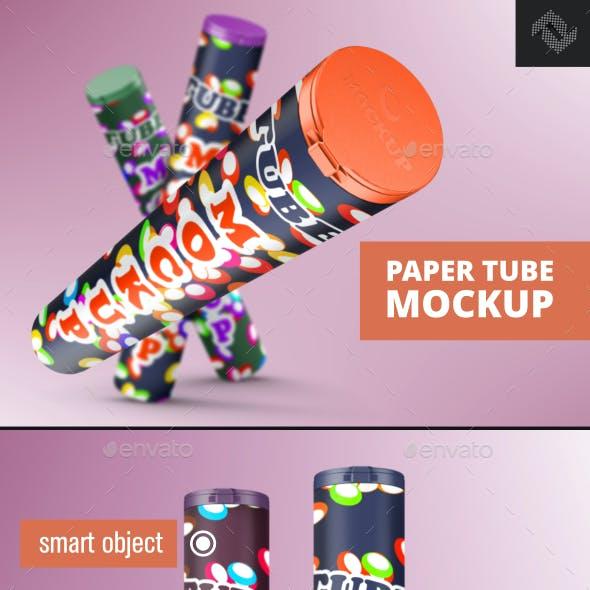 Product Paper Tube Mockup