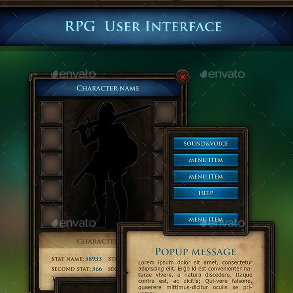 Rpg UI Graphics, Designs & Templates from GraphicRiver