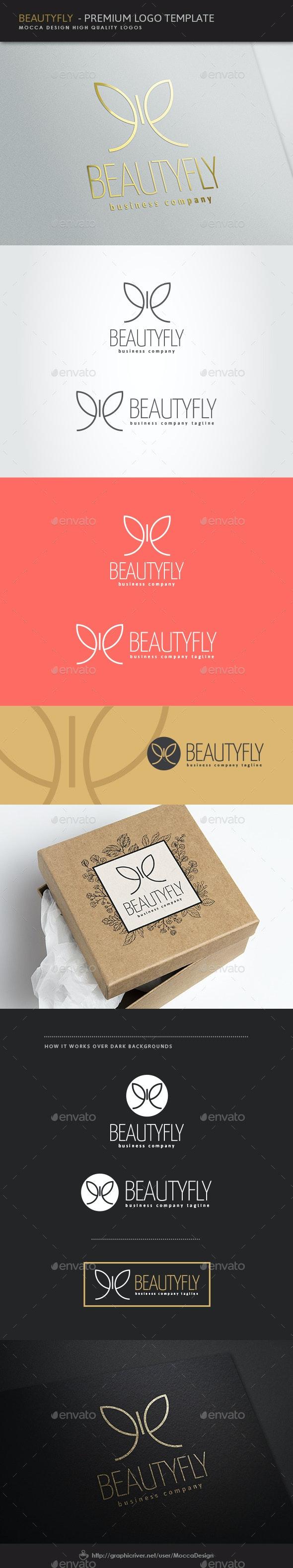 Beautyfly Logo - Animals Logo Templates