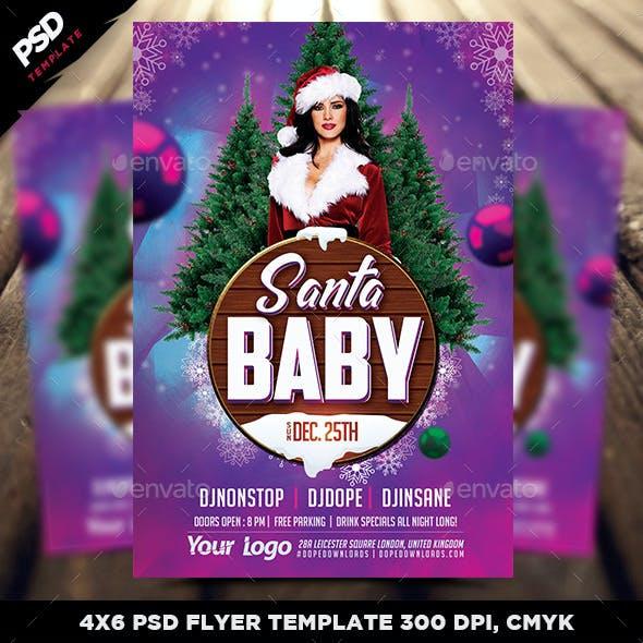 Santa Baby Flyer Template