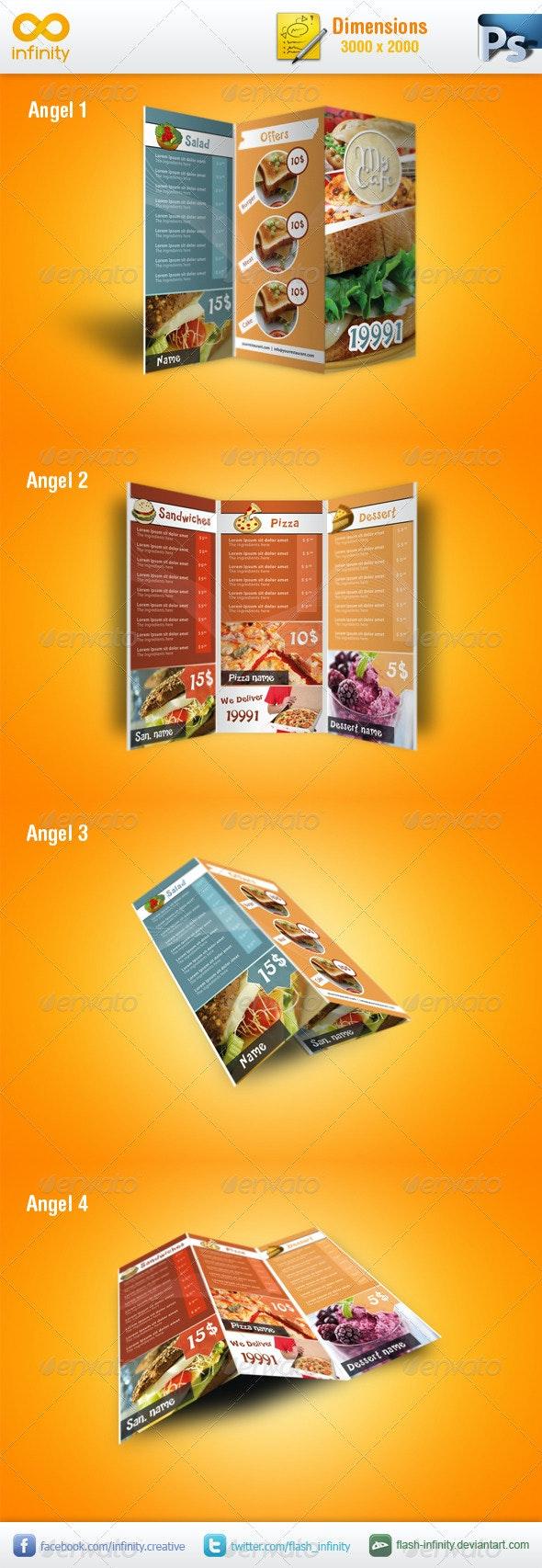 Modern TriFold Mockup v1 - Brochures Print