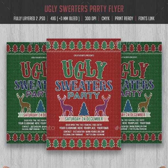Ugly Sweaters Party Flyer