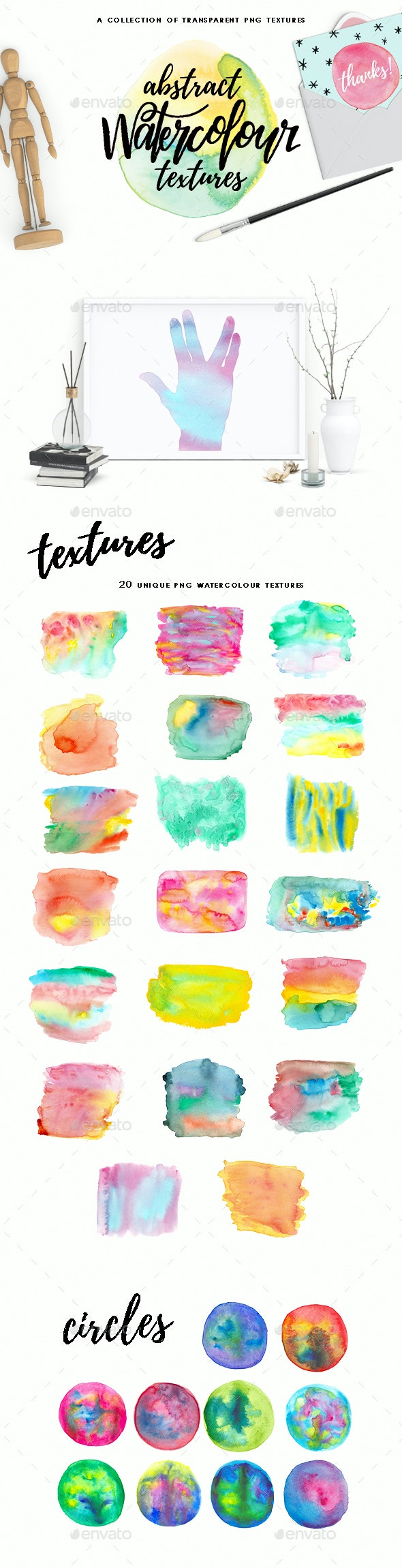 Abstract Watercolour Textures - Textures
