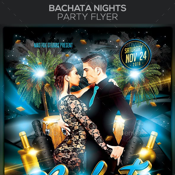 Bachata Nights Party Flyer