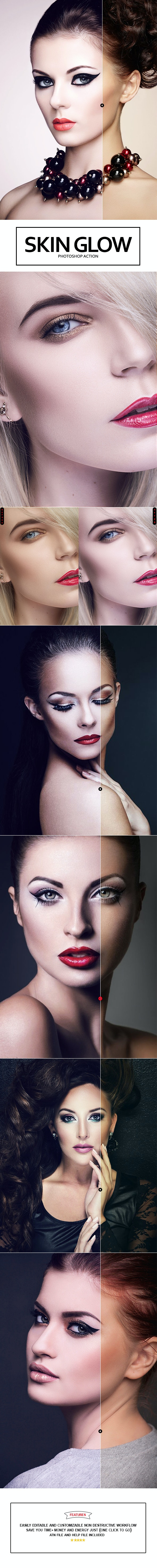 Skin Glow Photoshop Action - Photo Effects Actions