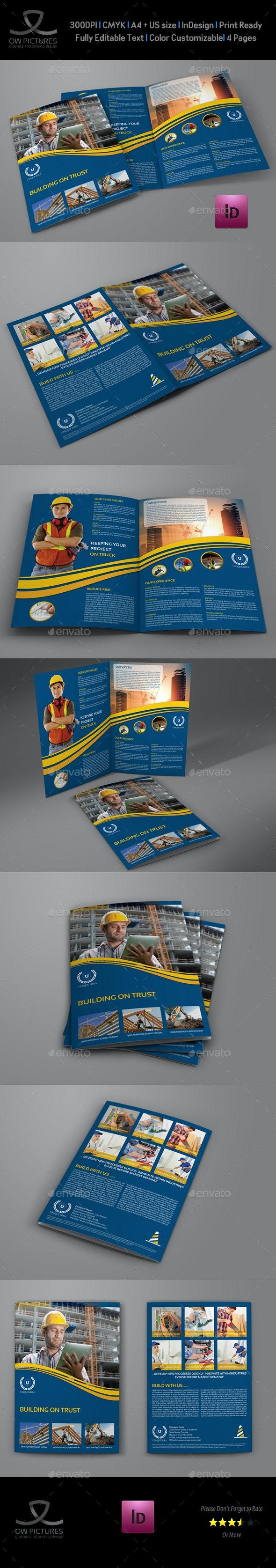 Construction Company Brochure Bi-Fold Template Vol.3 - Brochures Print Templates