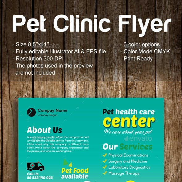 Pet Clinic Flyer