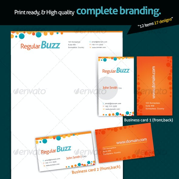 Print ready complete branding
