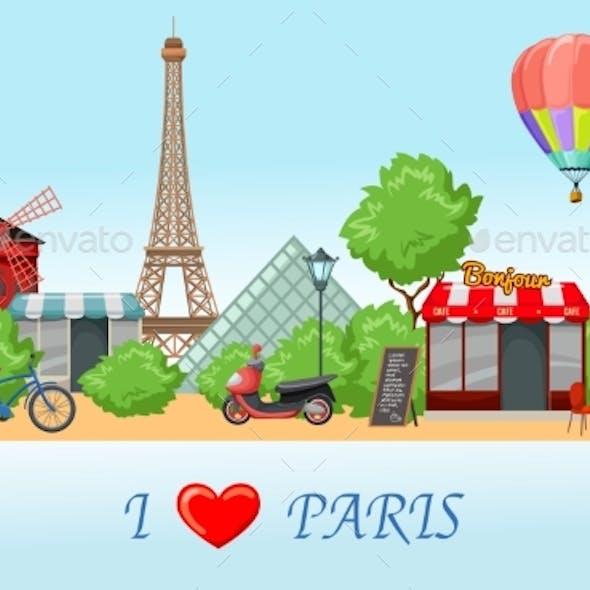 Paris Skyline Composition