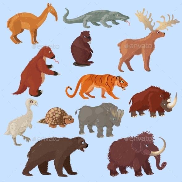 Ice Age Animals Set