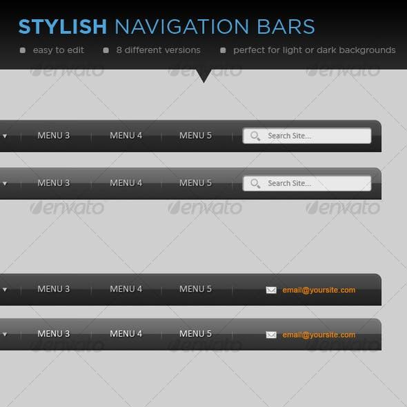 Stylish Web Navigation Menu/Bar