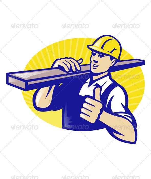 Carpenter Builder Worker Thumbs Up - People Characters