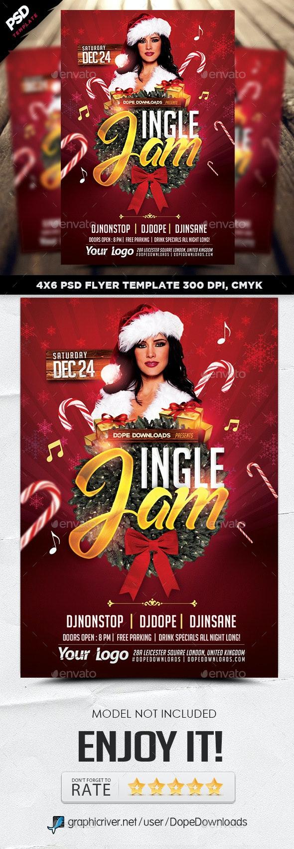 Jingle Jam Christmas Flyer - Holidays Events