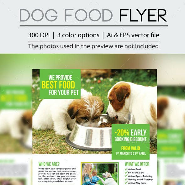 Dog Food Flyer