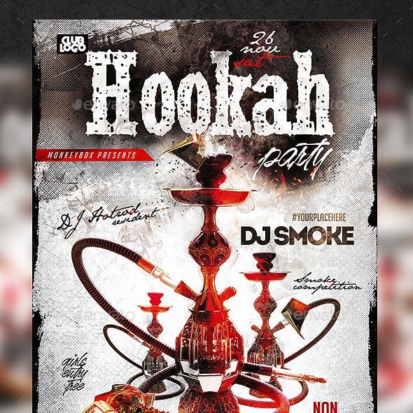 Hookah Party Flyer PSD